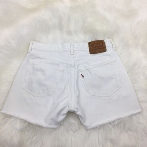 Levi's 501 vintage white cut off shorts size 30